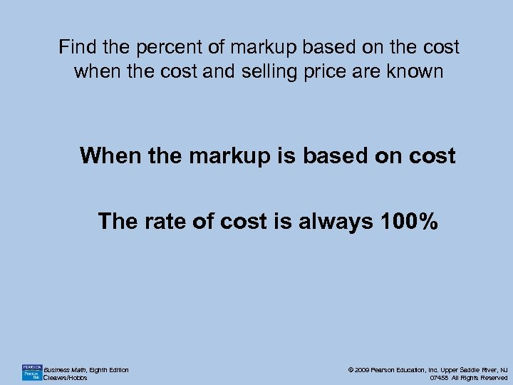 Find the percent of markup based on the cost when the cost and selling