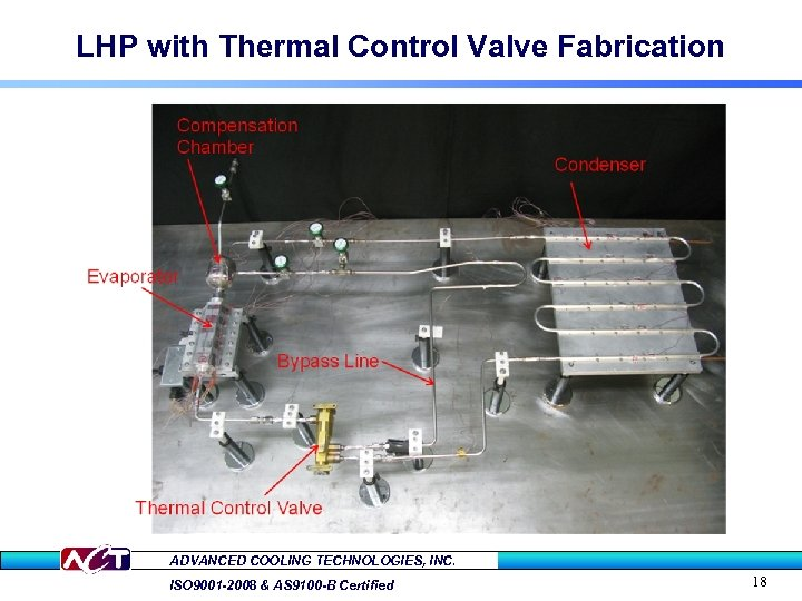 LHP with Thermal Control Valve Fabrication ADVANCED COOLING TECHNOLOGIES, INC. ISO 9001 -2008 &