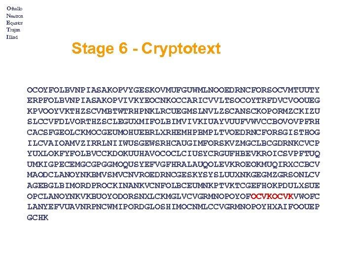 Othello Neutron Equator Trajan Illiad Stage 6 - Cryptotext OCOYFOLBVNPIASAKOPVYGESKOVMUFGUWMLNOOEDRNCFORSOCVMTUUTY ERPFOLBVNPIASAKOPVIVKYEOCNKOCCARICVVLTSOCOYTRFDVCVOOUEG KPVOOYVKTHZSCVMBTWTRHPNKLRCUEGMSLNVLZSCANSCKOPORMZCKIZU SLCCVFDLVORTHZSCLEGUXMIFOLBIMVIVKIUAYVUUFVWVCCBOVOVPFRH CACSFGEOLCKMOCGEUMOHUEBRLXRHEMHPBMPLTVOEDRNCFORSGISTHOG