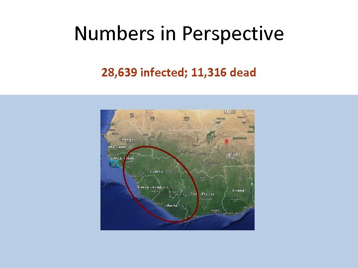 Numbers in Perspective 28, 639 infected; 11, 316 dead