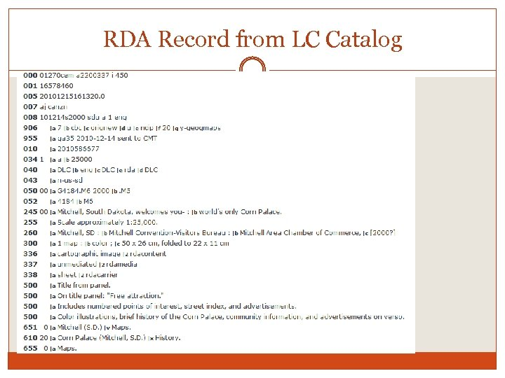 RDA Record from LC Catalog