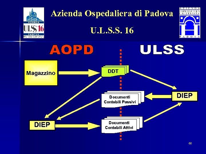 Azienda Ospedaliera di Padova U. L. S. S. 16 Magazzino DDT Documenti Contabili Passivi