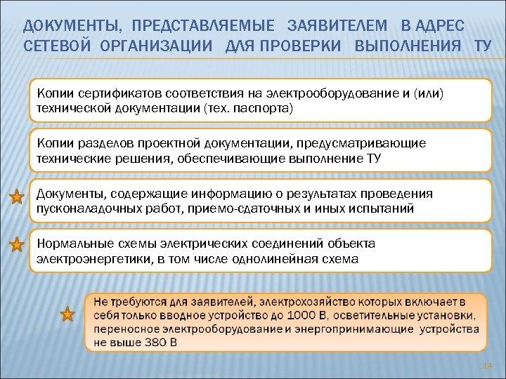 ДОКУМЕНТЫ, ПРЕДСТАВЛЯЕМЫЕ ЗАЯВИТЕЛЕМ В АДРЕС СЕТЕВОЙ ОРГАНИЗАЦИИ ДЛЯ ПРОВЕРКИ ВЫПОЛНЕНИЯ ТУ Копии сертификатов соответствия
