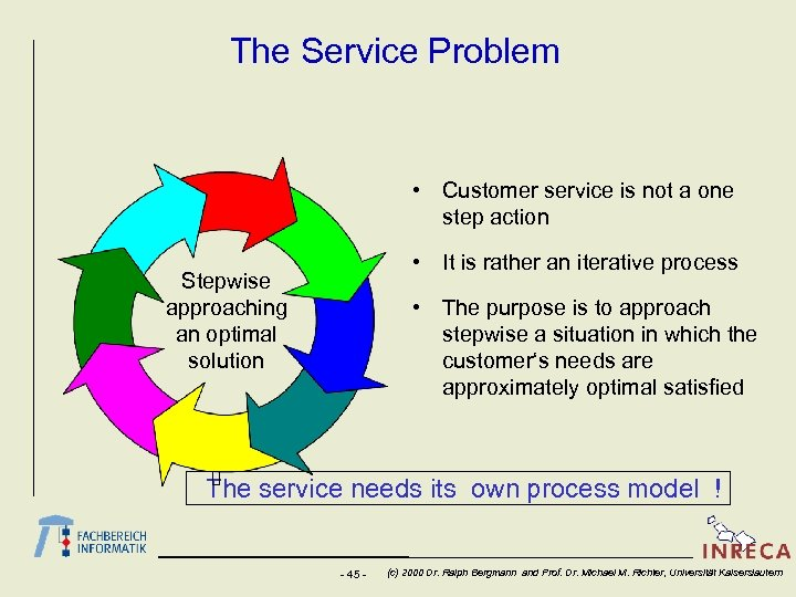 The Service Problem • Customer service is not a one step action • It