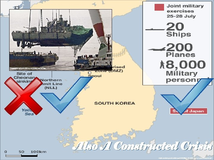 http: //www. prlog. org/10703725 -cheonan-warship-south-korea. jpg Also A Constructed Crisis http: //news. bbcimg. co.