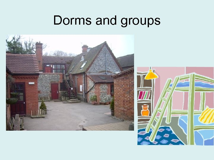 Dorms and groups