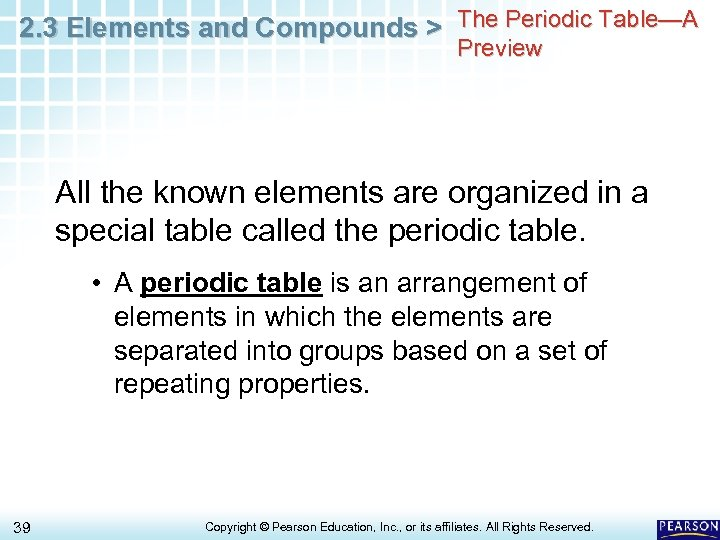 2. 3 Elements and Compounds > The Periodic Table—A Preview All the known elements