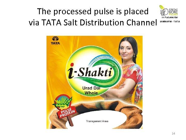 The processed pulse is placed via TATA Salt Distribution Channel In Pudukkottai IAMWARM -