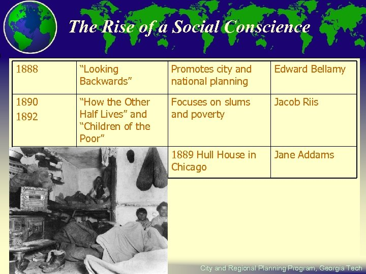 """The Rise of a Social Conscience 1888 """"Looking Backwards"""" Promotes city and national planning"""