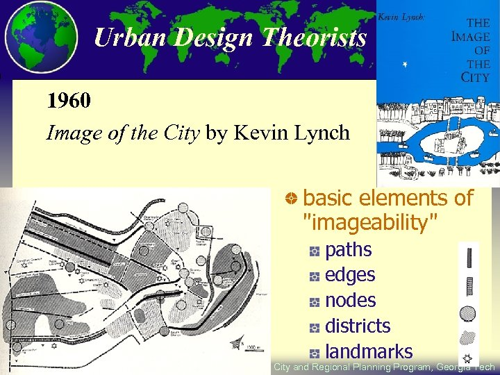 Urban Design Theorists 1960 Image of the City by Kevin Lynch basic elements of