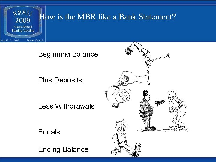 How is the MBR like a Bank Statement? Beginning Balance Plus Deposits Less Withdrawals