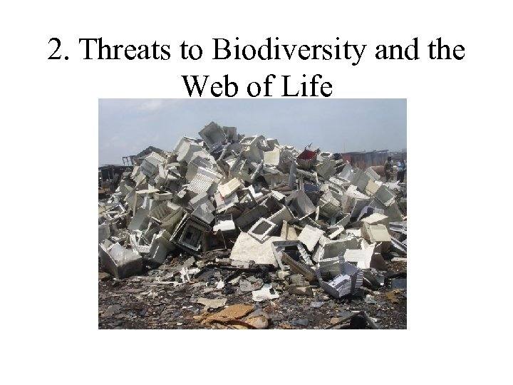 2. Threats to Biodiversity and the Web of Life