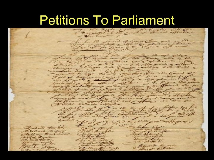 Petitions To Parliament