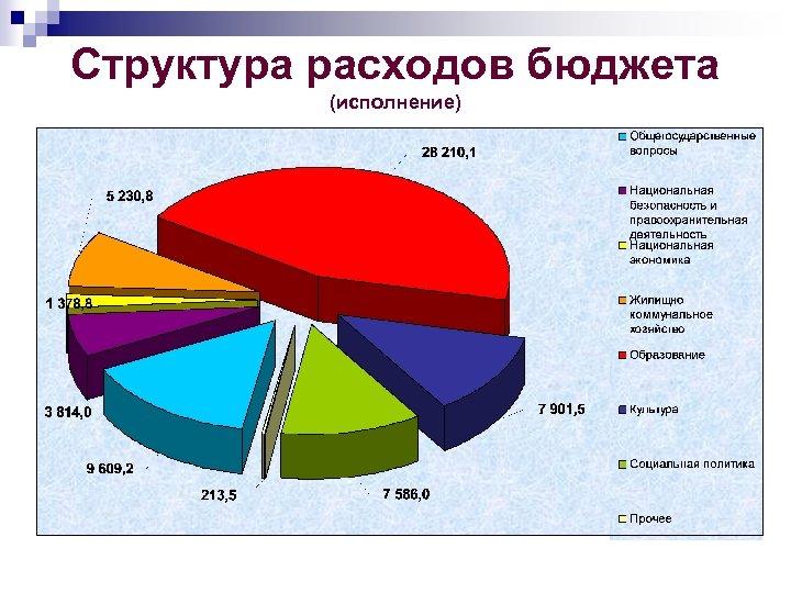 Структура расходов бюджета (исполнение)