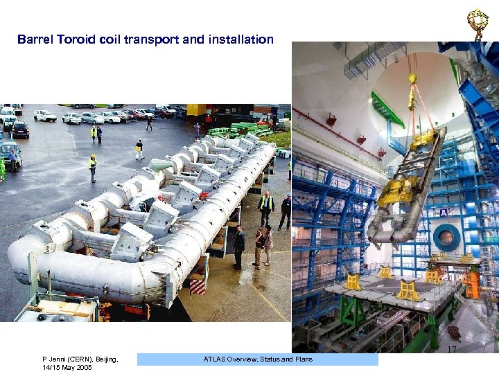 Barrel Toroid coil transport and installation 17 P Jenni (CERN), Beijing, 14/15 May 2005