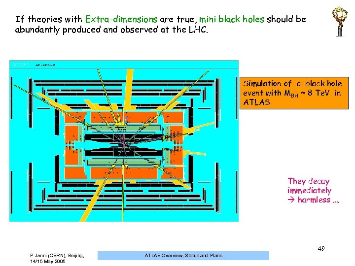 If theories with Extra-dimensions are true, mini black holes should be abundantly produced and