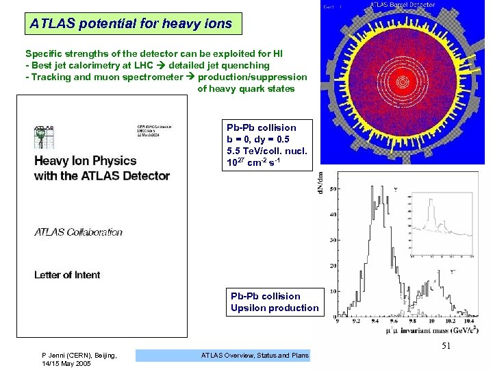 ATLAS potential for heavy ions Specific strengths of the detector can be exploited for