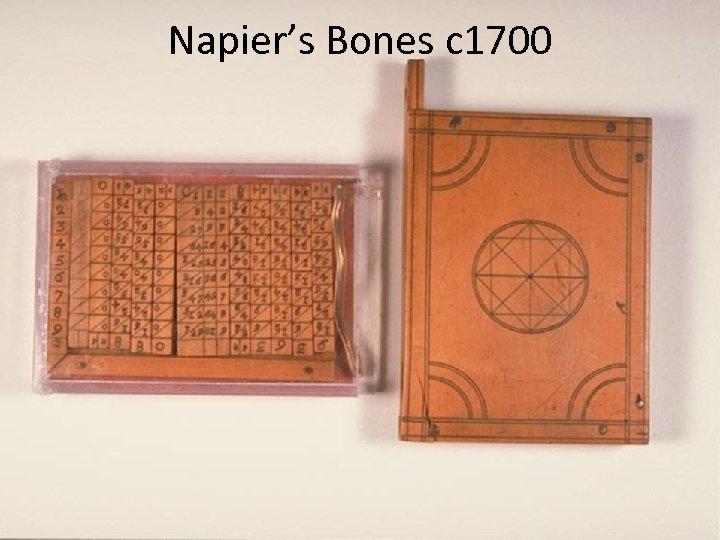 Napier's Bones c 1700