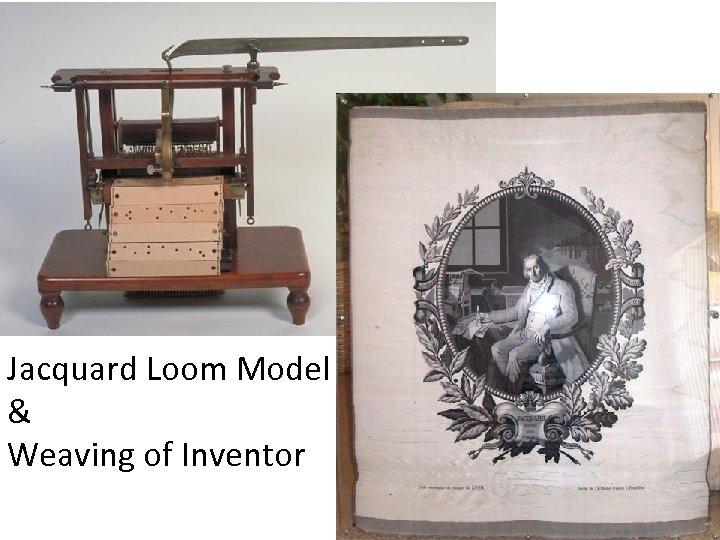 Jacquard Loom Model & Weaving of Inventor