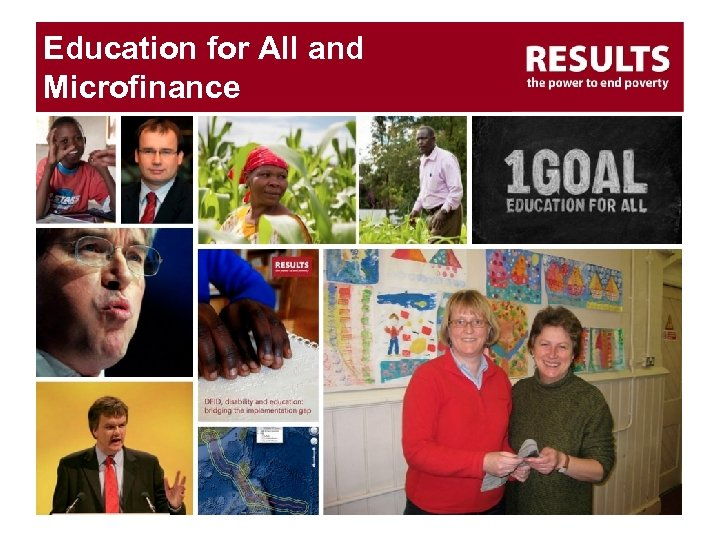 Education for All and Microfinance