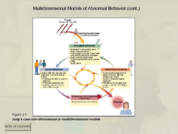Multidimensional Models of Abnormal Behavior (cont. ) Figure 2. 1 Judy's case one-dimensional or