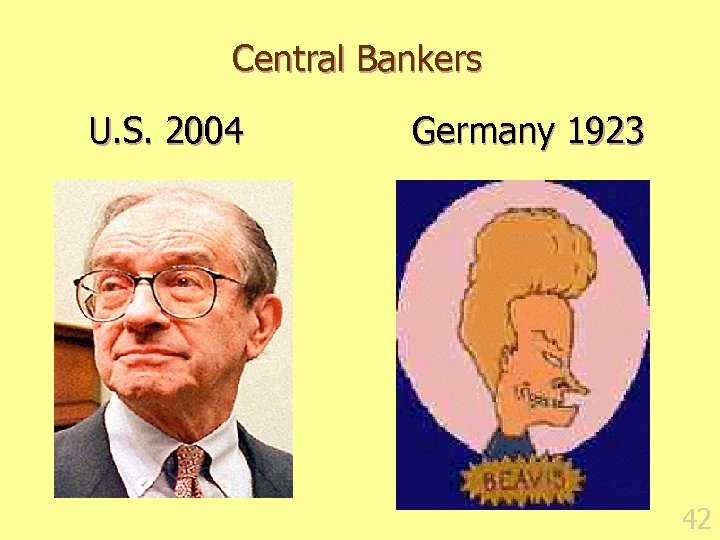 Central Bankers U. S. 2004 Germany 1923 42