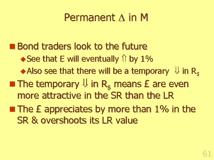 Permanent in M n Bond traders look to the future u See that E