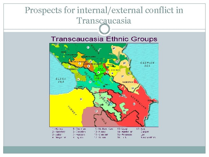 Prospects for internal/external conflict in Transcaucasia
