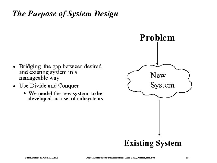 The Purpose of System Design Problem ¨ ¨ Bridging the gap between desired and