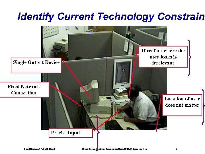 Identify Current Technology Constraint Single Output Device Direction where the user looks is irrelevant