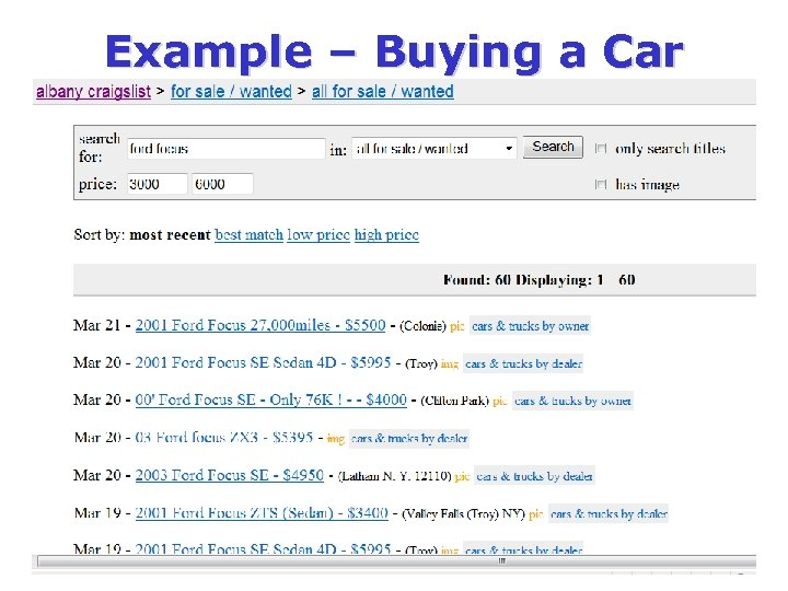Example – Buying a Car