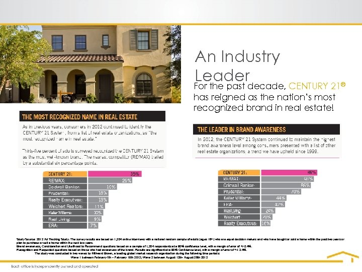 An Industry Leader For the past decade, CENTURY 21® has reigned as the nation's