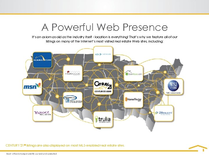 A Powerful Web Presence It's an axiom as old as the industry itself -