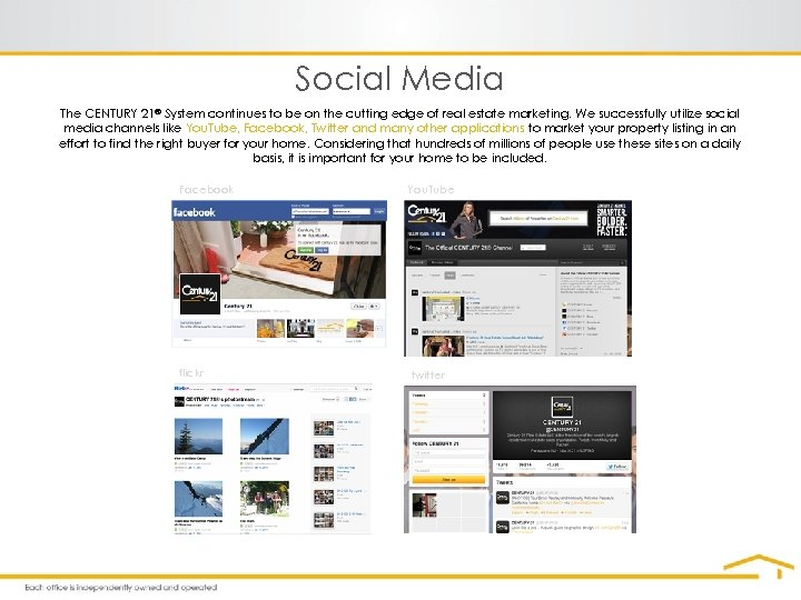 Social Media The CENTURY 21® System continues to be on the cutting edge of