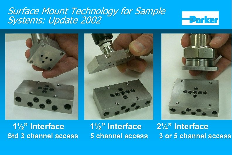 "Surface Mount Technology for Sample Systems: Update 2002 1½"" Interface Std 3 channel access"
