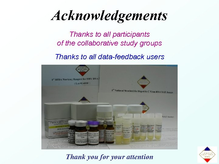 Acknowledgements Thanks to all participants of the collaborative study groups Thanks to all data-feedback