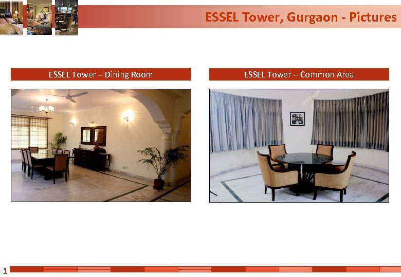 ESSEL Tower, Gurgaon - Pictures ESSEL Tower – Dining Room 1 ESSEL Tower –