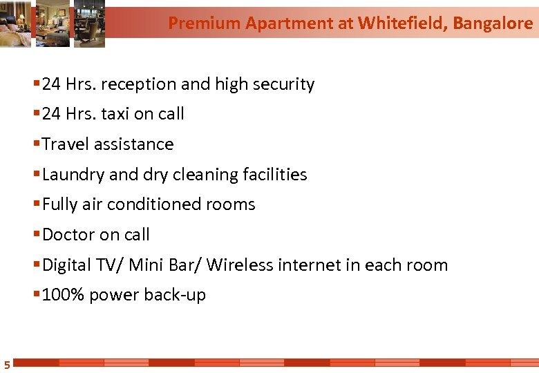 Premium Apartment at Whitefield, Bangalore § 24 Hrs. reception and high security § 24