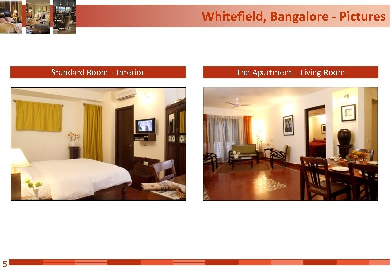 Whitefield, Bangalore - Pictures Standard Room – Interior 5 The Apartment – Living Room