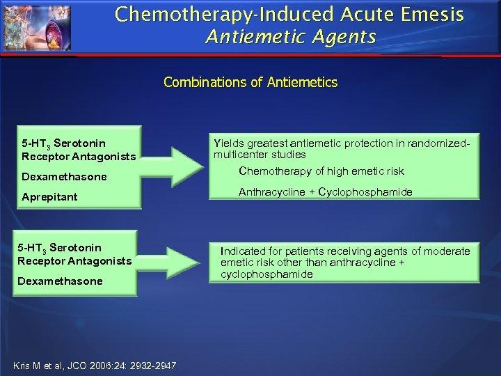 Chemotherapy-Induced Acute Emesis Antiemetic Agents Combinations of Antiemetics 5 -HT 3 Serotonin Receptor Antagonists