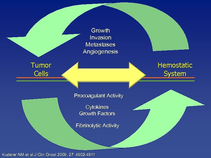 Growth Invasion Metastases Angiogenesis Tumor Cells Hemostatic System Procoagulant Activity Cytokines Growth Factors Fibrinolytic