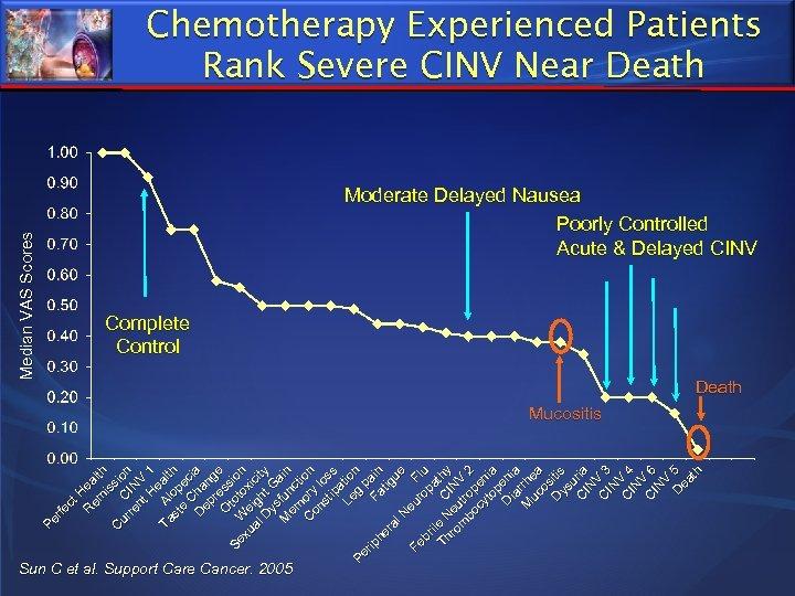 Sun C et al. Support Care Cancer. 2005 P er fe ct H R