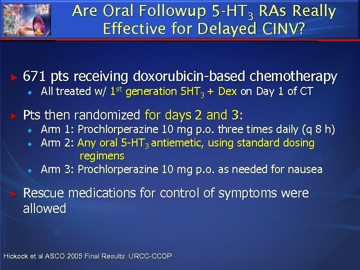 Are Oral Followup 5 -HT 3 RAs Really Effective for Delayed CINV? ► 671