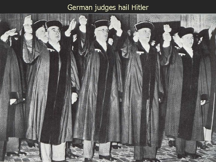 German judges hail Hitler