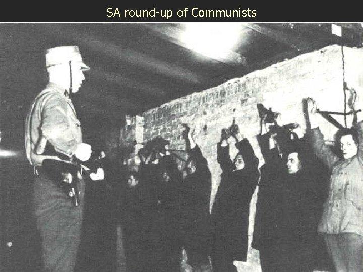 SA round-up of Communists