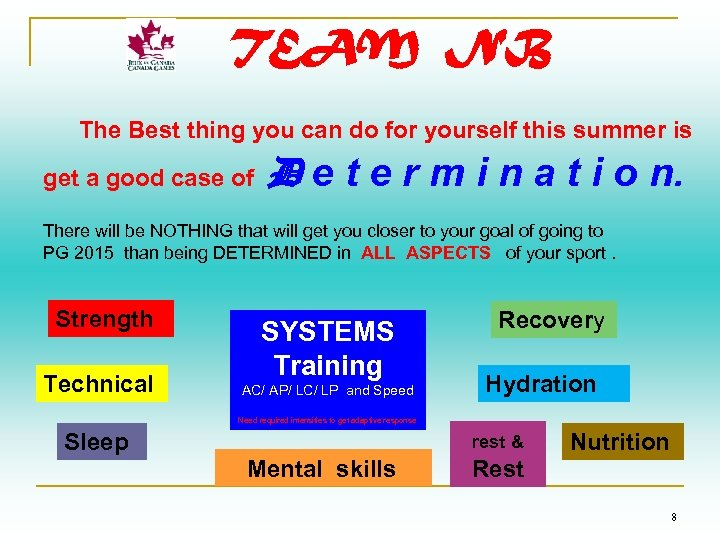 TEAM NB The Best thing you can do for yourself this summer is get