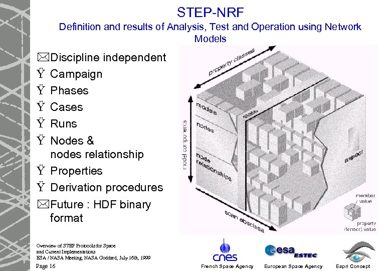 STEP-NRF Definition and results of Analysis, Test and Operation using Network Models *Discipline independent