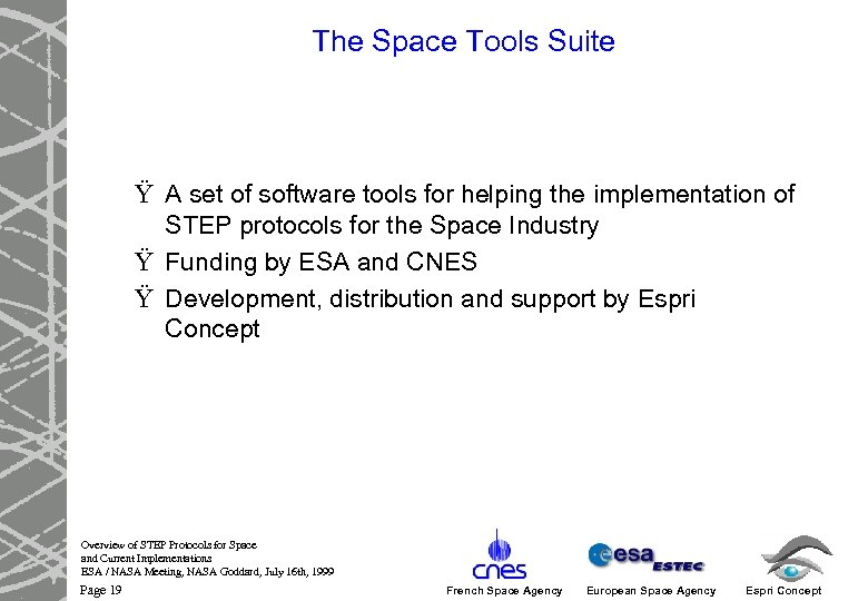 The Space Tools Suite Ÿ A set of software tools for helping the implementation