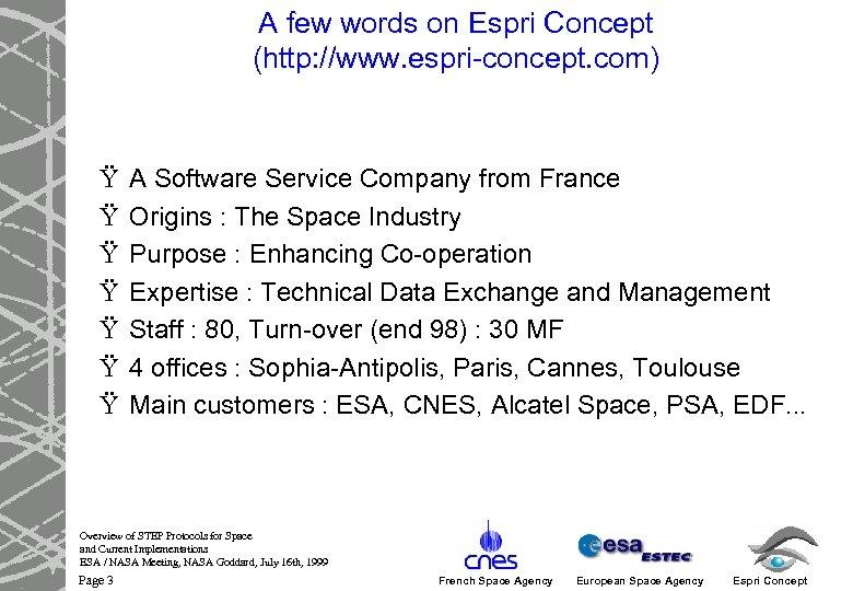 A few words on Espri Concept (http: //www. espri-concept. com) Ÿ Ÿ Ÿ Ÿ