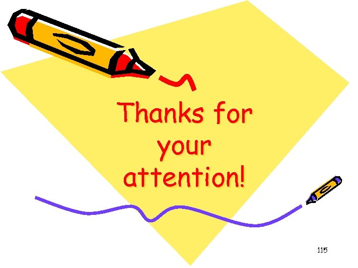 Thanks for your attention! 115